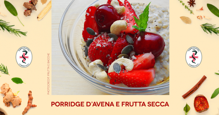 porridge di avena con frutta secca Farmanatura