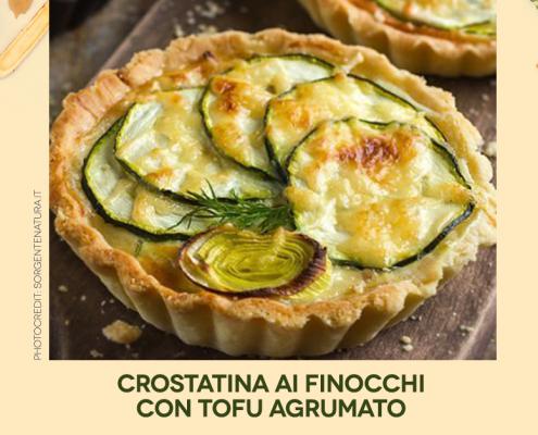 Crostatina finocchi e tofu - Farmanatura