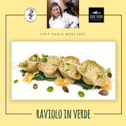 Raviolo in verde - chef Nadia Moscardi per Farmanatura