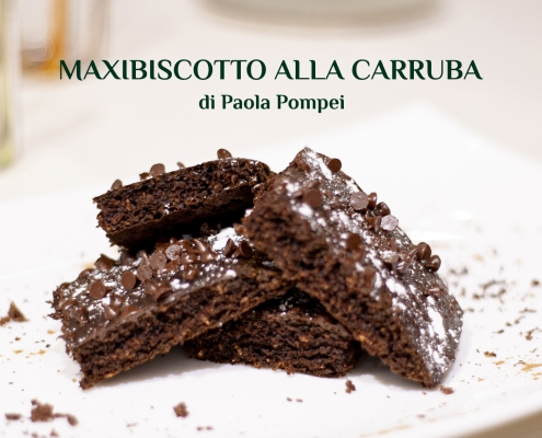 maxibiscotto alla carruba - ricetta di Paola Pompei - Farmanatura Kitchen