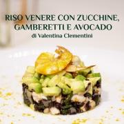 Riso venere con zucchine, gamberetti e avocado - ricetta di ValentinaClementini Farmanatura